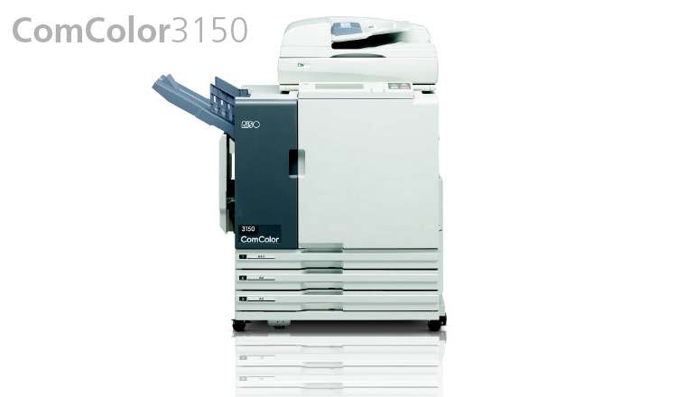 Speed up your colour communications to boost your business with the RISO ComColor 3150 unit, available from Durban Data Imports. With a host of convenient features and a thoughtfully designed user interface, operation is both versatile and extremely easy. The ComColor 3150 provides full-colour high-speed printing of 90 pages per minute and start-up takes a mere 5 seconds. This allows to complete a 1,000 page document in just a little over 11 minutes.  This ComColor 3150 is ideally suited to high-volume, multi-purpose use in offices, schools and training institutions.