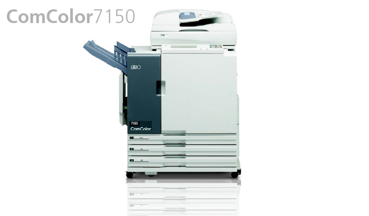 The RISO ComColor+ 7150 combines a print speed120full-colour pages per minute, with low running costs, increased productivity and reliability, for superior performance. The ComColor 7150 is designed for offices, in-house print rooms of corporates and schools. With an output speed of 120 ppm, completing a 1,000 pages full-colour document takes just a little over eight minutes making the ComColor 7150 perfect for demanding environments.