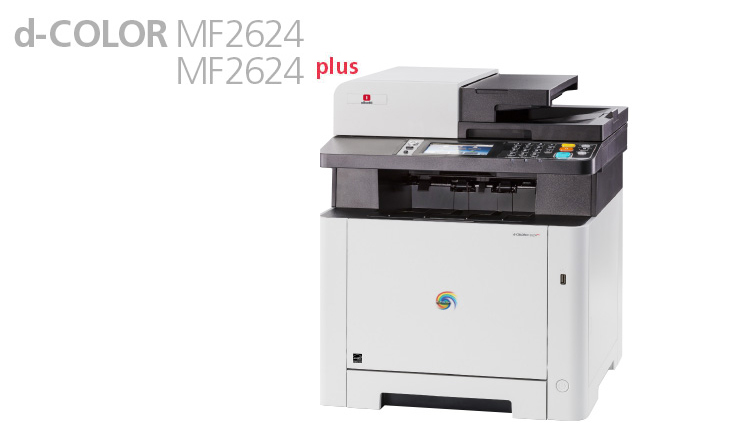 The Olivetti d-Color MF2624 and d-Color MF2624plus A4 colour multifunctional systems, with their compact modern design, represent the ideal solution for work environments where space is limited but demands for good performance, professional results and reliability remain high.