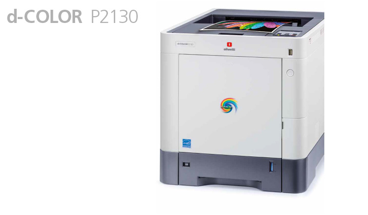 The d-Color P2130 A4 colour laser printer provides excellent productivity and quality and delivers very fast printouts in less than 7 seconds in black and white and 8 seconds in colour.