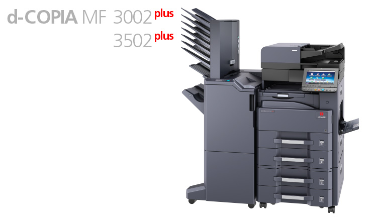 The modern office needs technologies that can increase efficiency and provide reliability, flexibility, speed and ease of use: the Mono d-Copia 3002MF Plus and d-Copia 3502MF Plus multifunctional systems have been designed with these objectives in mind.