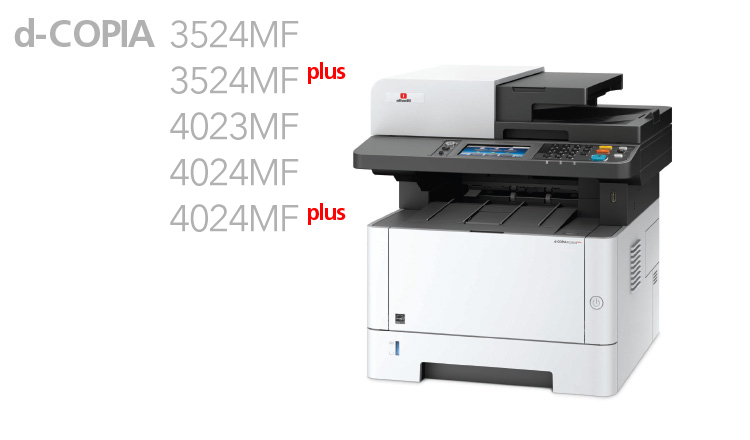 The new multifunction monochrome A4 systems are designed with the needs of small work groups in mind.