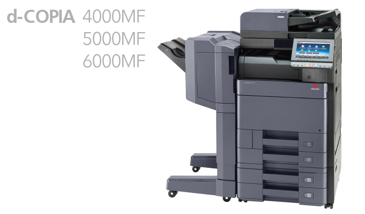 The new A3 monochrome d-Copia 4000MF/5000MF/6000MF multifunctional systems represent a new era of performance and functionality for the current fast-moving business market.