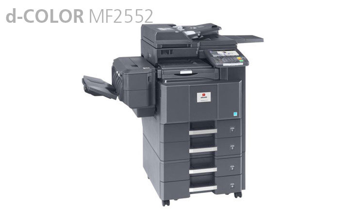 The d-COLOR MF2552 multifunctional system from Olivetti provides fast, quality printing, copying and scanning for any type of document, in both A4 and A3 formats, in colour and black and white, printing up to 25 pages per minute. The d-Color MF2552 has been designed to reduce the amount of power it consumes. Thanks to a fast warm up time of just 30 seconds and a first copy out time the d-Color MF2552 is able to save time as well as power consumption. Colour scanning standard with optional fax as well as secure management of confidential documents.