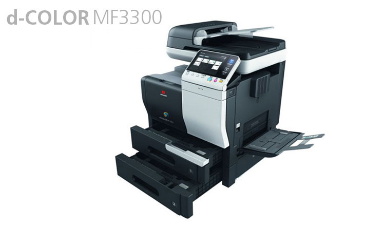 The Olivetti d-COLOR MF3300 is a flexible solution for colour-centric small workgroups and SMEs. The d-COLOR MF3300 moves documents faster and more efficiently with a scan speed of 35 originals per minute and a full colour speed of 33 pages per minute. Its compact size, extremely low power consumption and high quality A4-document production makes this an ecologically friendly and cost effective choice for small, medium and bigger businesses. The large LCD screen means ease of use and saved time.