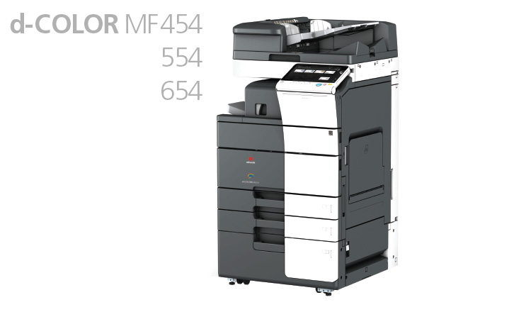The A3 colour Multifunctional systems the Olivetti d-Color MF454, d-Color MF554 and d-Color MF654 provide advanced functionalities for improving day-to-day productivity while delivering exceptional print quality and finishing capabilities.
