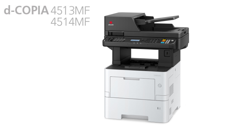 The Olivetti d-Copia 4514MF is an All-on-One A4 printer, designed for heavy workload in offices with dynamic workgroups. Its speed of 45 ppm supports productivity requirements of medium to larger workgroups. The scanner has an embedded file compression function, which is able to simplify workflow by rationalising the task of digitising and sending large volumes of electronic documents. It scans with up to 60 images per minute.