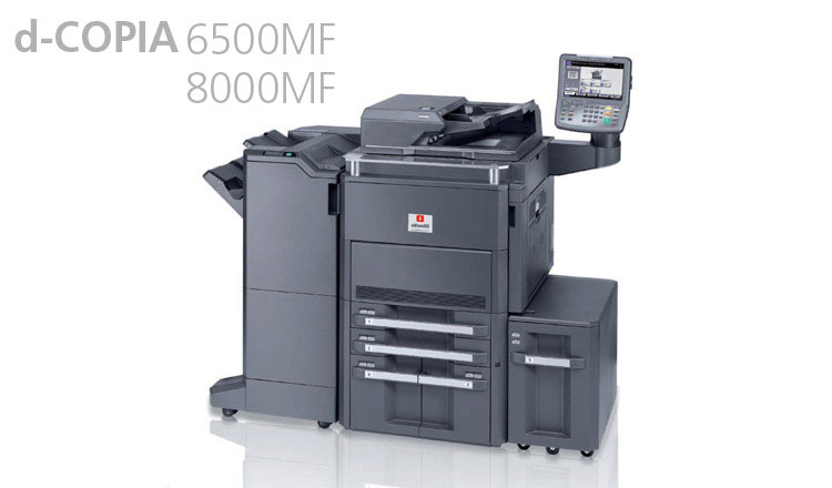 Olivetti's d-COPIA 6500MFplus and d-COPIA 8000MFPlus black and white multifunctional digital systems are the perfect solution for all high volume document requirements of large offices, small print centre's and schools, looking for high efficiency, productivity and superior black and white printing quality. Both models offer speed and flexibility and are fitted with a powerful Dual-Core processor. These systems are both available from Durban Data Imports.