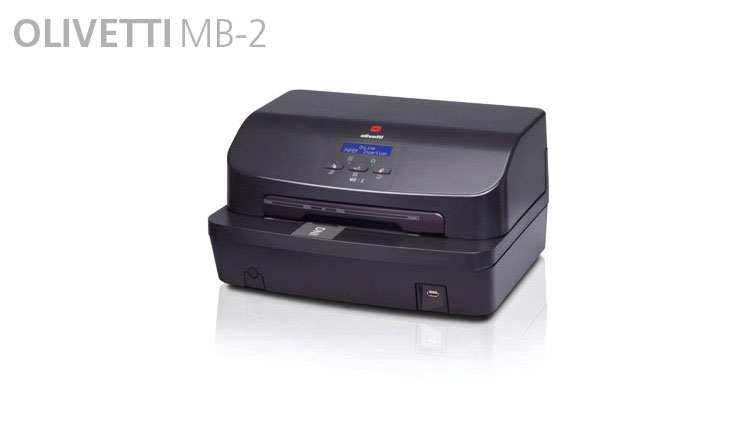 The Olivetti MB-2 is a multifunction printer for bank front offices. With its ultra-compact dimensions and extensive range of functions, MB-2 simplifies front-office installations and supports new applications.