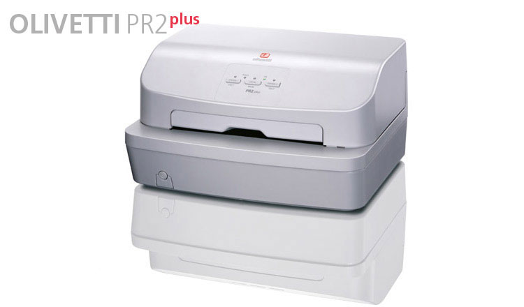 Available from Durban Data Imports, the Olivetti PR2 PLUS has been designed in different models from the entry-level version to the dual-side scanner model (MB-2model) in order to satisfy multifunctional front-office applications. This unit has the capacity to print on all Bank forms from single-sheet and multiple-copy documents to passbooks.