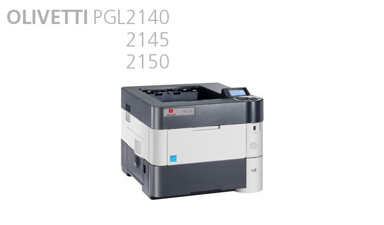 Olivetti offers a range of compact and robust monochrome laser printers including the PG L2140 / L2145 and L2150 units, which are available from Durban Data Imports. These laser printers are the ideal solution for heavy-duty workloads with print speeds of 40, 45 and 50 pages per minute, respectively. Reliable, versatile, easy to handle and simple to use, these units deliver highly professional performance levels at a competitive cost, to meet the needs of any workplace -  from small and medium-size businesses to large corporations and government agencies. Use of long-life top-quality consumables enhances results to guarantee higher productivity, minimise running and maintenance costs and reduce impact on the environment. Support for a variety of formats and paper weights, combined with the large capacity of the optional paper trays, mean these printers suit the most diverse printing requirements.