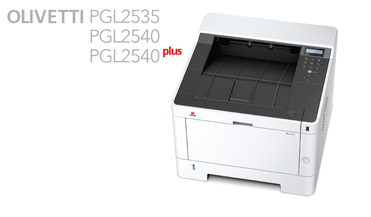 The PG L2535, PG L2540 and PG L2540plus are Olivetti's latest A4 Mono Desktop laser printers. Not only they are compact and robust but are also high speed machines delivering jobs quickly and silently with indispensable functions that are ideally suited to individual users and small workgroups.