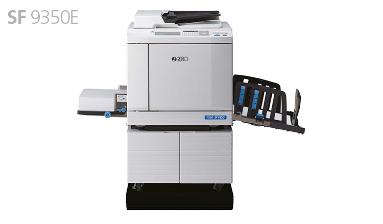 The SF9350 model offers high quality printing regardless of the type of document: forms, envelopes, leaflets, flyers or teaching materials. To obtain even better quality results, you can easily connect your duplicator to a PC with a USB cable or print direct from a USB key.